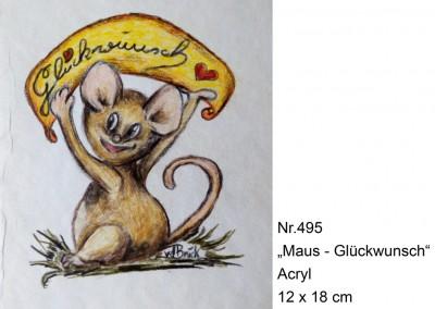 KF 0495 - Maus-Glückwunsch -